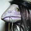 Salmonidae hispidus: detail, face