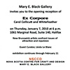 Invitation to Ex Corpore with Carol Collicutt, guest curated by Leola Le Blanc.