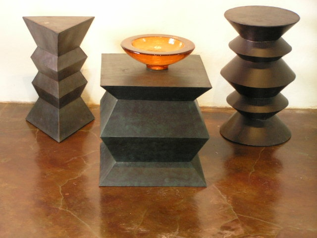 Hand crafter metal occasional tables/stools