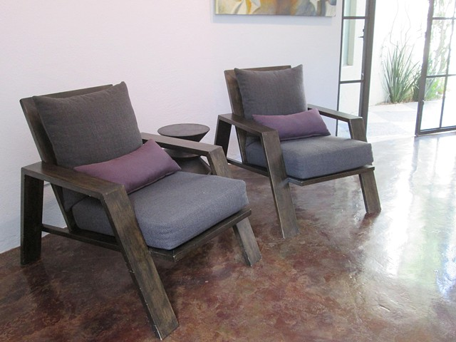 Contemporary wood lounge chairs