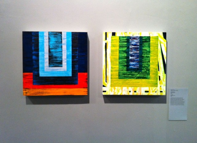 Two paintings in the Rowan University Studio Faculty Exhibit: Constructs, 2012 Glassboro, NJ