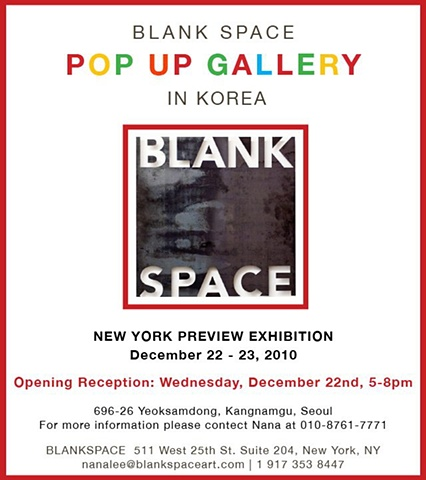 Blank Space Pop Up Gallery In Korea December 2010, Seoul