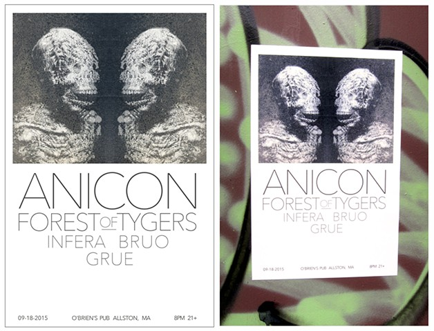 Anicon gig poster for their second show at O'Briens Pub.