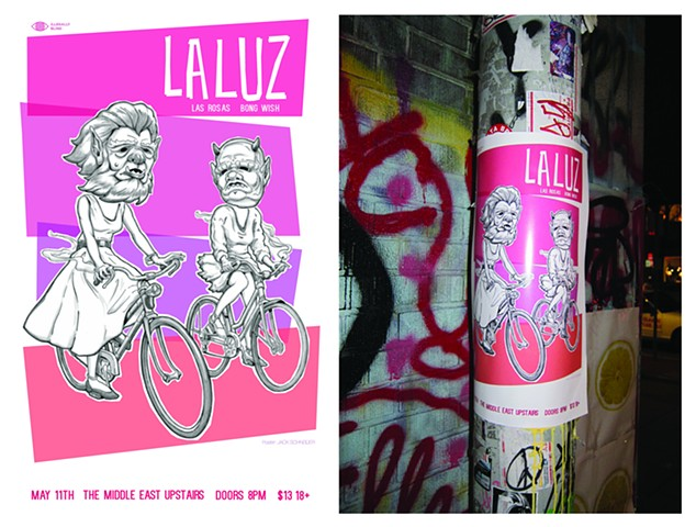 La Luz poster for Illegally Blind