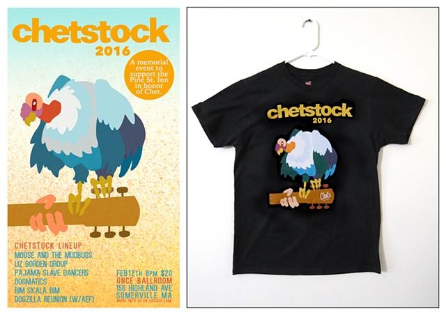 Illustration and poster design for Chetstock.