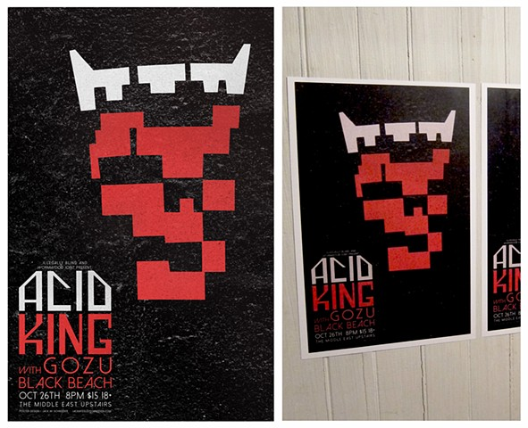 Gig poster for Acid King at the Middle East.