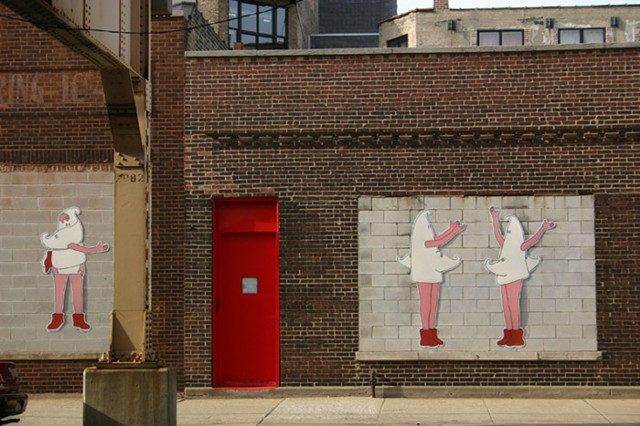 Girls Brigade, public art Lake Street, Chicago