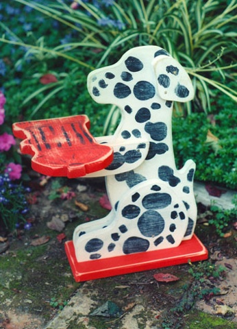 Dalmation Holding Fireplug