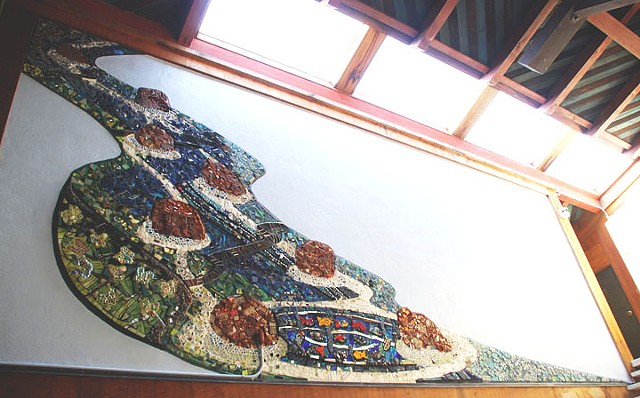 Community mosaic mural for the Unitarian Church of Berkeley CA