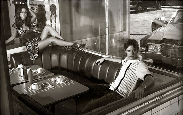 Image by Markus Klinko + Indrani Armie Hammer and Jessica Stroup for Flaunt