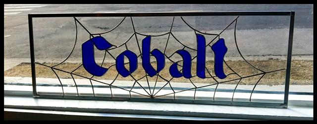 Cobalt transom sign
