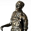 After Patrol - Dick Heerschop Sumatra 1947-1950  Bronze sculpture with poem