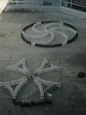 swirl and cross