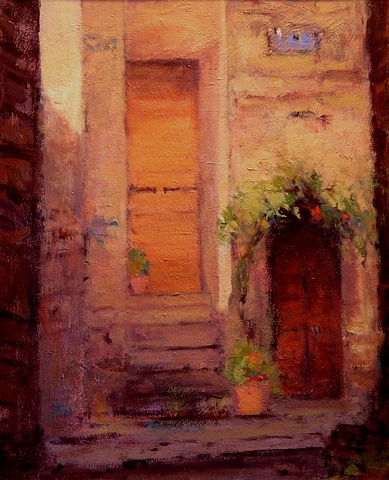 Alcove in the Italian hilltown of Civita R W Bob Goetting