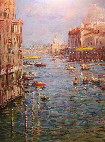 Venice Italy, the Grande Canal during the Regatta R W Bob Goetting