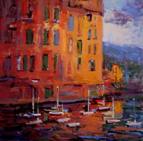 Light, Italy, Italian, Portofino, sunset,