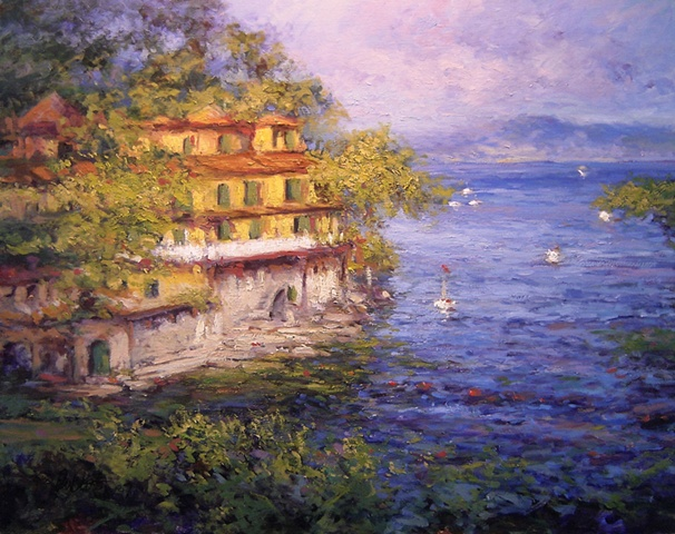 Villa in Mediterranean near Portofino and Santa Margherita Italy R W Bob Goetting, french and italian riviera