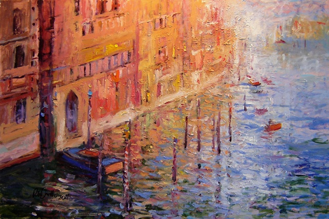 Grande Canal in Venice Italy R W Bob Goetting, french and italian riviera