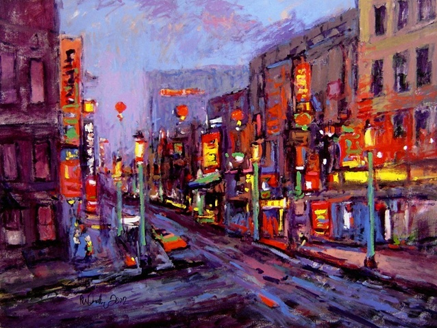 Chinatown at night R W Bob Goetting