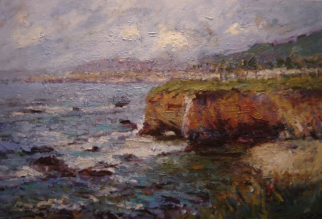 California seascape, Shell Beach California, ocean, paintings of Shell Beach California