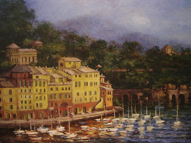 Afternoon in Portofino  SOLD