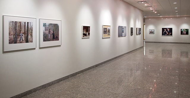 "Image: Installation view of ""Remember Then: An Exhibition on the Photography of Memory""  Concourse Gallery, Center for Government and International Studies (CGIS), Harvard University  February 3- March 15"