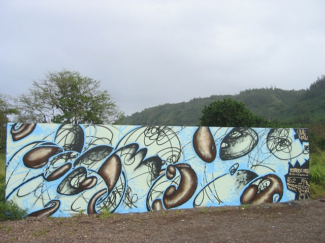 Banzaii Rock Skate Park mural #1, North Shore, Oahu, Hawaii