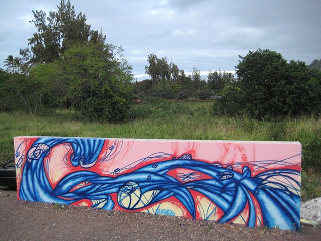 Banzaii Rock Skate Park mural #2, North Shore, Oahu, Hawaii
