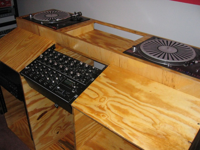 Dj booths, Record/Cd shelves I have built