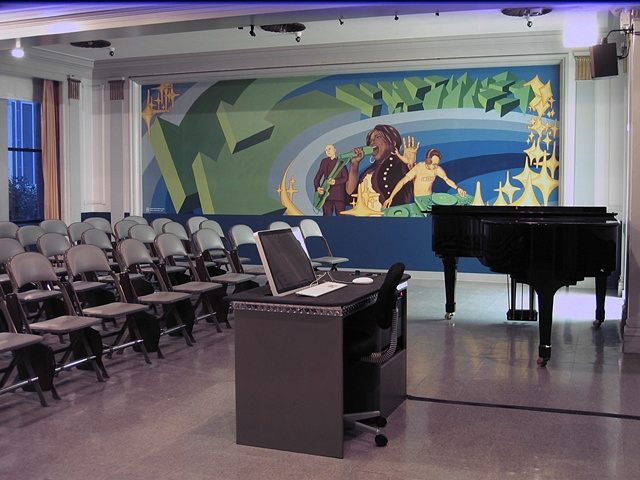 Columbia College Chicago music department mural.