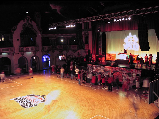 looking down at The Aragon Ballroom