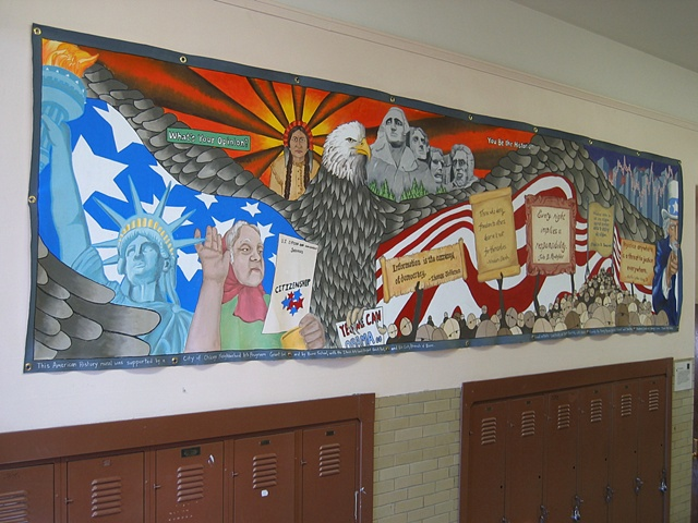 Boone Elementary School  history mural