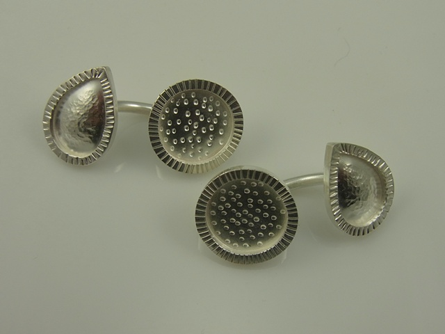 Teardrop and Circle Cufflinks