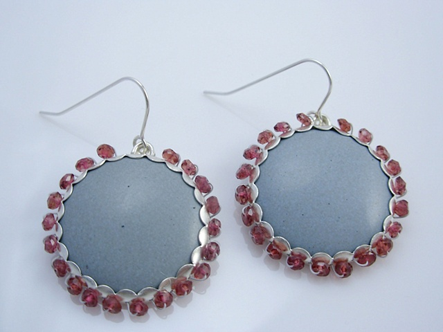Decorated Enamel Earrings
