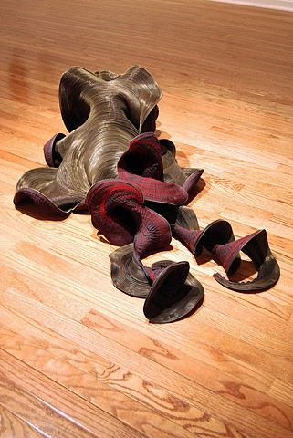 Medusa, 2008. Machine-sewn zippers, dimensions variable.