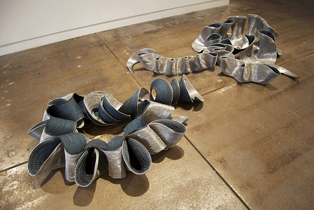 Your Grace, 2009. Machine-sewn zippers, dimensions variable.