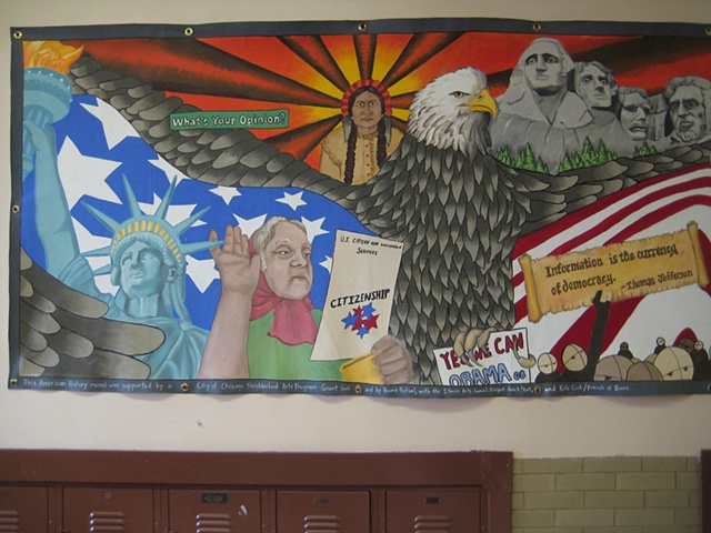 Lea pinsky art portfolio for Community mural ideas