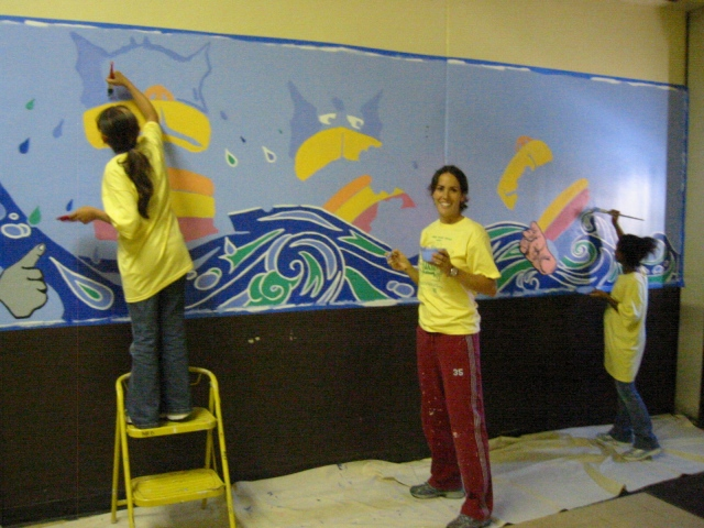 Pulaski Lunchroom Mural- process