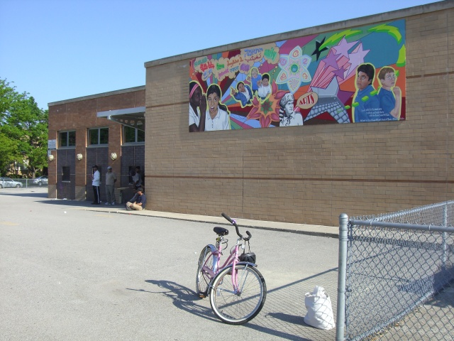 Boone Mural- installed, side view
