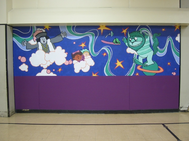 Pulaski Lunchroom Mural- panel 7