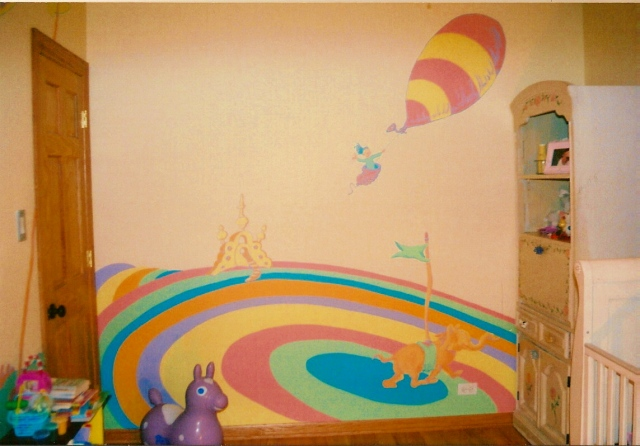 Dr Seuss Mural- full wall