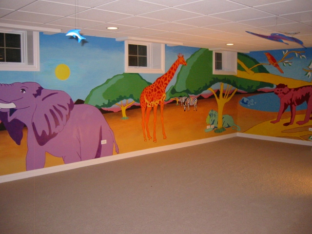 Jungle Mural full wall