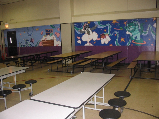 Right side of full lunchroom