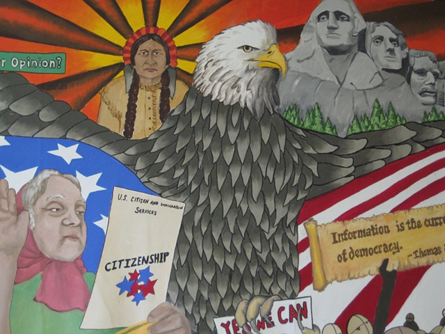 Boone History Mural- detail
