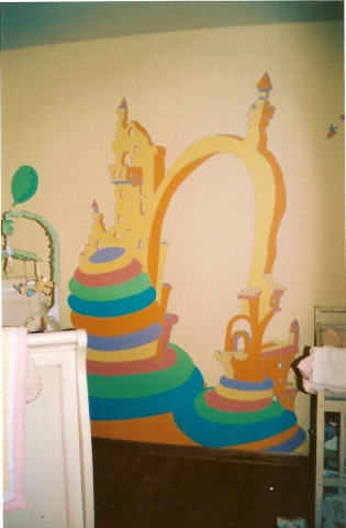 Dr Seuss Mural- second full wall