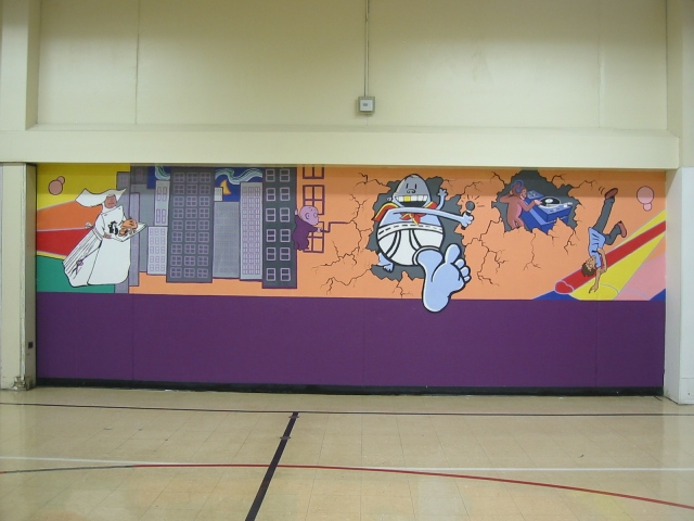 Pulaski Lunchroom Mural- panel 2