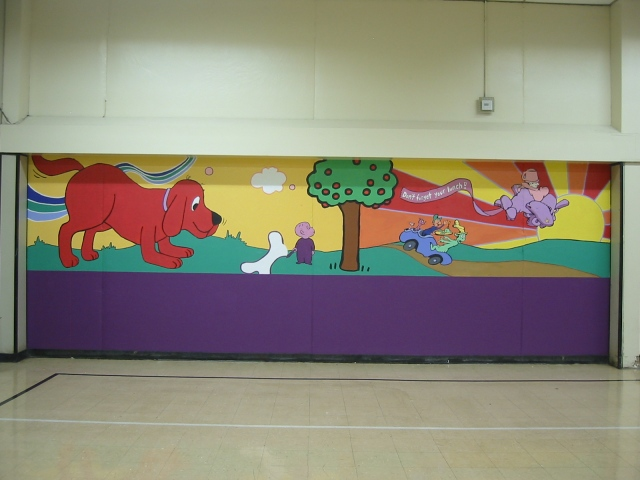 Pulaski Lunchroom Mural- panel 1