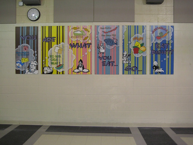 Boone Lunchroom Mural- full view