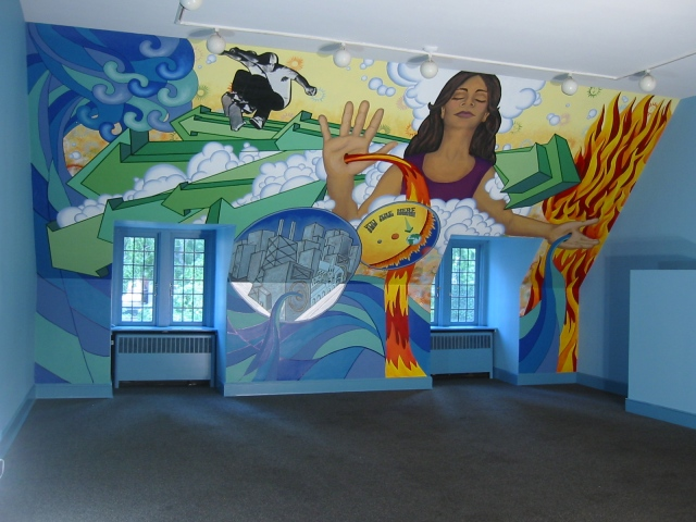 Fourth Pres Mural- side view