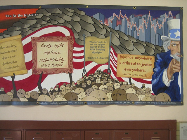 US History Mural- right half